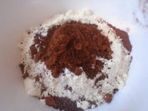 Galletas Mexicanas de chocolate paso 1